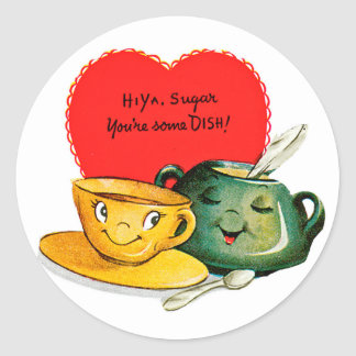 Vintage Valentine s Day Greeting Stickers