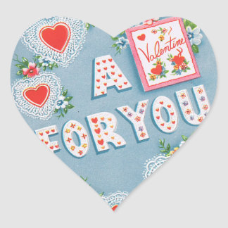 Vintage Valentine s Day Hearts Heart Stickers