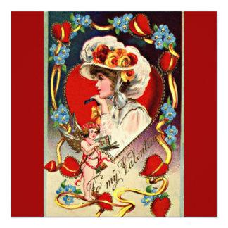 Vintage Valentine's Day Invite