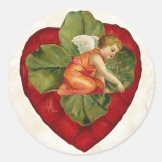 Vintage Valentine s Day Stickers Cherub