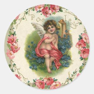 Vintage Valentine s Day Victorian Angel on Phone Sticker