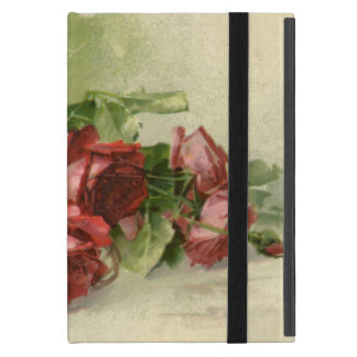Vintage Valentine s Day Victorian Red Roses Covers For iPad Mini