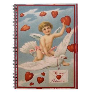 Vintage Valentine Spiral Notebook