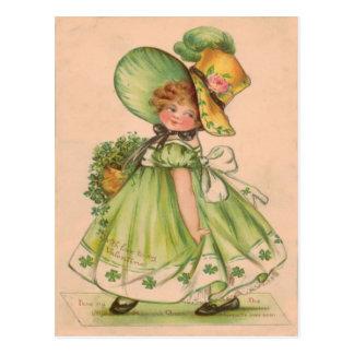 Vintage Valentine St Patrick's Day Card