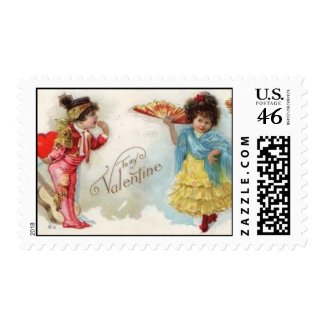 Vintage Valentine Stamp stamp