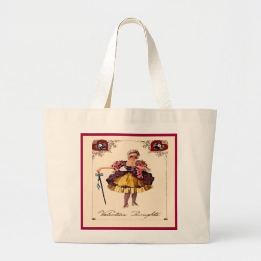 Vintage Valentine Thoughts Tote Bags