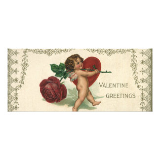 Vintage Valentine Victorian Angel Cupid Rose Heart Custom Invite