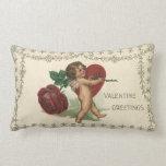 Vintage Valentine Victorian Angel Cupid Rose Heart Throw Pillows