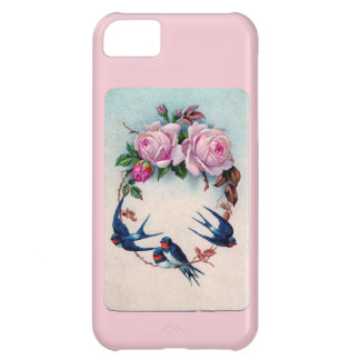 Vintage Valentine with Birds and Roses iPhone 5C Case