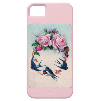 Vintage Valentine with Birds and Roses iPhone 5 Case