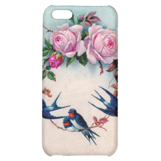 Vintage Valentine with Birds and Roses iPhone 5C Cover