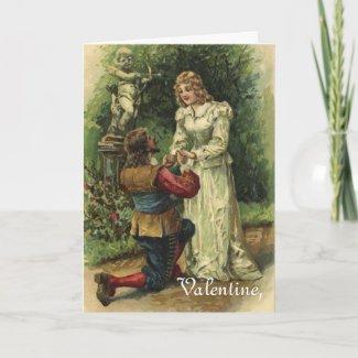 Vintage Valentines Card card