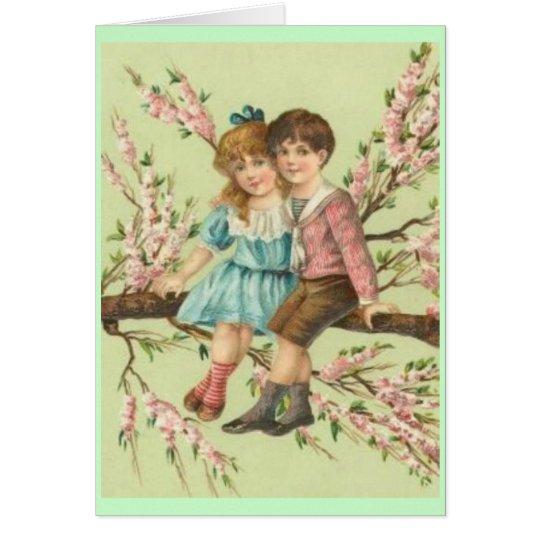 Vintage Valentine's Children Card