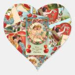 Vintage Valentines collage Stickers