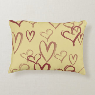 Vintage valentines day accent pillow
