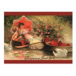 Vintage Valentine's Day Angel Cupid Flowers Love Postcard