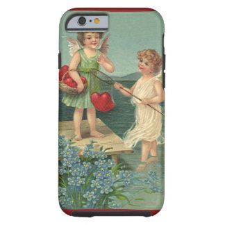 Vintage Valentine's Day, Angels Fishing for Hearts Tough iPhone 6 Case