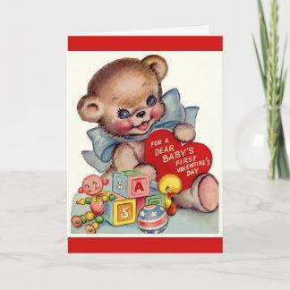 Vintage Valentine's Day   Baby's 1st Valentine Holiday Card