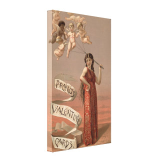 Vintage Valentines Day Stretched Canvas Print