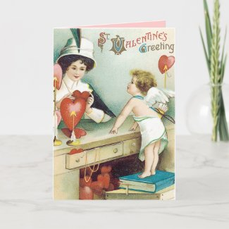 Vintage Valentines Day Card card