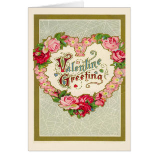 Vintage Valentines Day Card at Zazzle