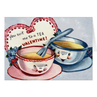 Vintage Valentine's Day Card for Kids