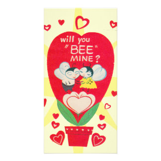 Vintage Valentines Day Card Photo Card