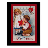 Vintage Valentine's Day Card Postcard