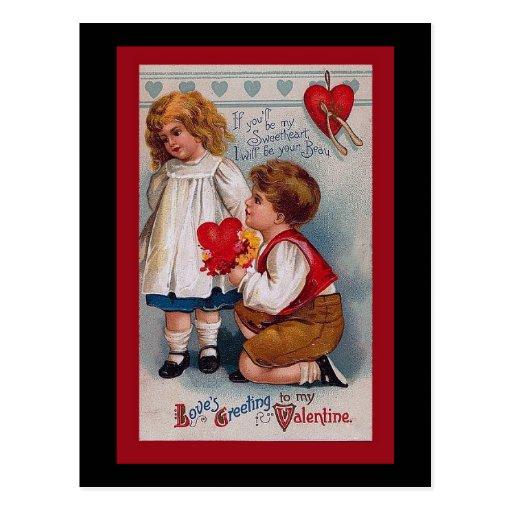 Vintage Valentine's Day Card Post Cards