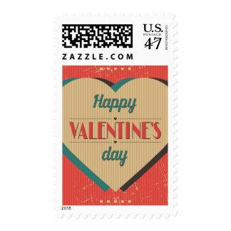 Vintage Valentine's Day Card Stamp