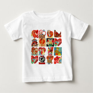 vintage valentines day cards collage shirts