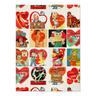 vintage valentines day cards retro invitations