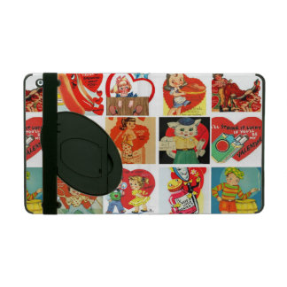 vintage valentines day cards retro red ipad cover