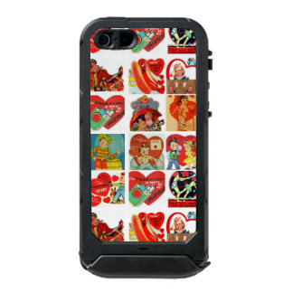 vintage valentines day cards retro red white waterproof case for iPhone SE/5/5s