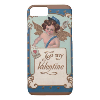 Vintage Valentine's Day, Cherub with Love Letters iPhone 7 Case