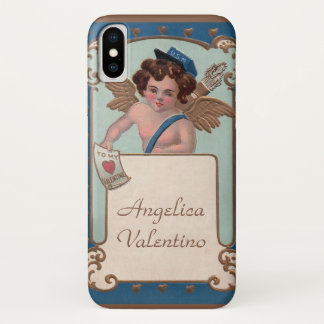Vintage Valentine's Day, Cherub with Love Letters iPhone X Case