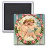 Vintage - Valentines Day  - Cherubs Fridge Magnets