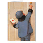 Vintage Valentine's Day, Child with Love Letter Greeting Cards