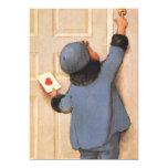 """Vintage Valentine's Day, Child with Love Letter 5"""" X 7"""" Invitation Card"""
