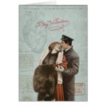 Vintage Valentine's Day Couple Love Heart Collage Greeting Card
