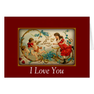 Vintage Valentine's Day | Cupids I Love You Card