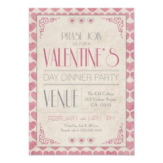Vintage Valentine's Day Dinner Party Invitations