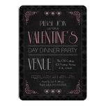 "Vintage Valentine's Day Dinner Party Invitations 5"" X 7"" Invitation Card"