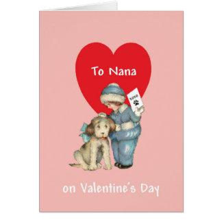 Vintage Valentine's Day for Nana Card