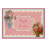 Vintage Valentine's Day Gift Tags Business Card Template