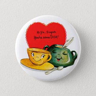 Vintage Valentine's Day Greeting Button