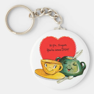 Vintage Valentine's Day Greeting Keychain