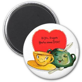 Vintage Valentine's Day Greeting Magnet