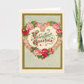 Vintage Valentines Day Holiday Card