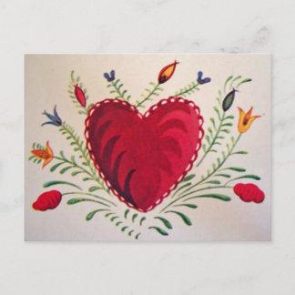 Vintage : Valentine's day - Holiday Postcard